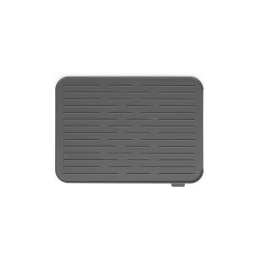 Brabantia International B.V. Brabantia Abtropfmatte, silikon, Strapazierfähige Geschirrabtropfmatte mit Stil, Farbe: Dark grey