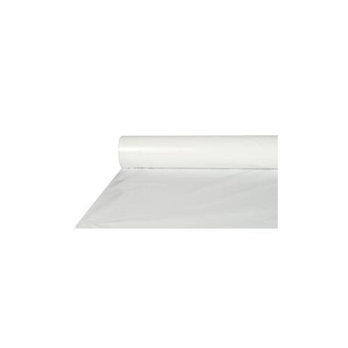 PAPSTAR  GmbH Papstar Tischdecke, Folie, weiß, 50 m x 80 cm, Abwaschbare und recycelbare Gartentischdecke, 1 Rolle à 50 m