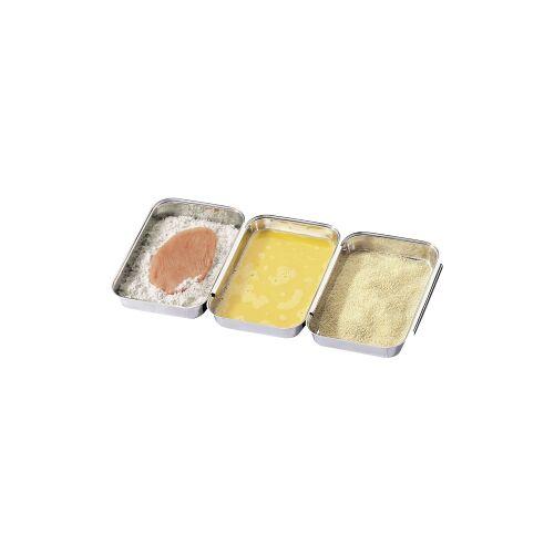 Küchenprofi GmbH Küchenprofi Panierset, 3er Set, Panierschalen zum sauberen Arbeiten beim panieren, marinieren und portionieren, 1 Set = 3 Stück