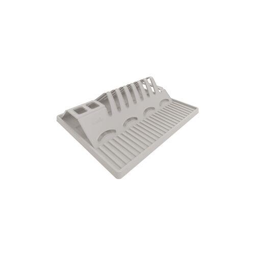 Rotho Kunststoff AG Rotho SPACE WONDER Geschirrabtropfer, Besteckkorb aus Kunststoff, Farbe: cool grey
