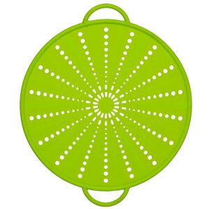EMSA (Groupe SEB Deutschland GmbH) EMSA Smart Kitchen Spritzschutz, grün, Platzsparend in Schubladen und Schränken, Durchmesser: 21 cm