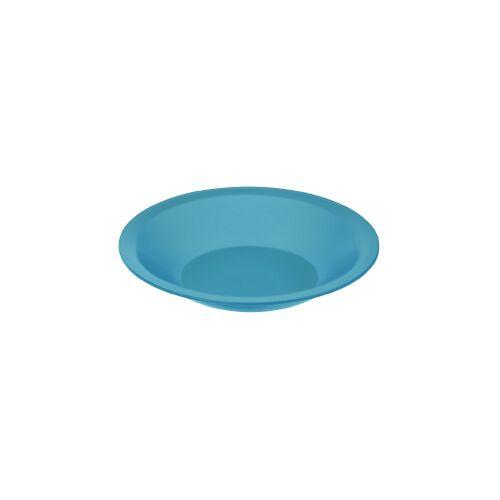 Rotho Kunststoff AG Rotho CARUBA Teller, tief, Maße: 210 x 210 x 35 mm, Kunststoff, Farbe: aqua blau