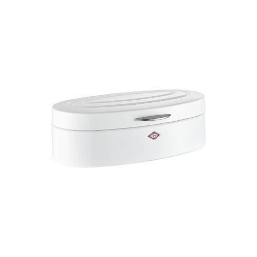 M. Westermann & Co. GmbH Wesco Elly Brotkasten, für die Aufbewahrung von Brot, Brötchen, Gebäck oder Kuchen, Farbe: weiß