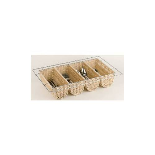 Assheuer + Pott GmbH & Co. KG APS BUFFET GN 1/1 Besteckbehälter, Besteckkästchen mit Kunststoffgeflecht und Drahtgestell, Maße (B x L x H): 53 x 32,5 x 10 cm