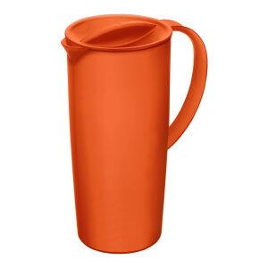 Rotho Kunststoff AG Rotho CARUBA Krug, 1,2 Liter, Kanne aus Kunststoff für Getränke , Farbe: papaya rot