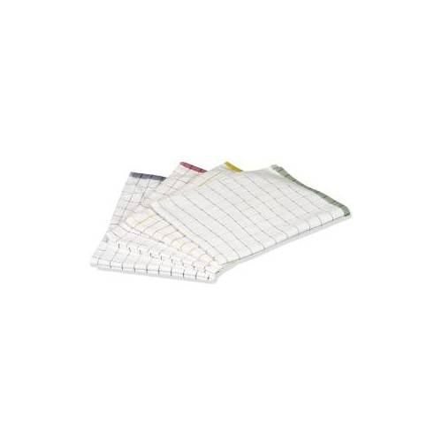 Floorstar GmbH Floorstar Microfaser-Geschirrtuch -Pot&Pan-, 40 x 60 cm, ca. 120 g, Farbe:  rot-weiß