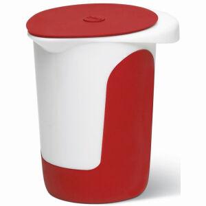 EMSA (Groupe SEB Deutschland GmbH) EMSA Mix&Bake Quirltopf, Aus ABS-Kunststoff, Fassungsvermögen: 1000 ml, Farbe: Rot / Weiß