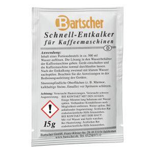Bartscher GmbH Bartscher Schnell-Entkalker, Entkalker für Kaffeemaschinen in praktischen Portionsbeutel, 1 Karton = 30 Beutel à 15 g