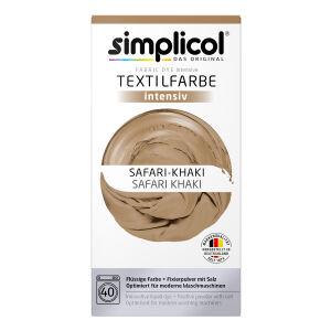 Brauns-Heitmann GmbH & Co. KG simplicol intensiv Textilfarbe, Flüssige Farbe und Fixierpulver mit Salz, Farbe: Safari-Khaki