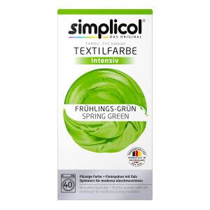 Brauns-Heitmann GmbH & Co. KG simplicol intensiv Textilfarbe, Flüssige Farbe und Fixierpulver mit Salz, Farbe: Frühlings-Grün