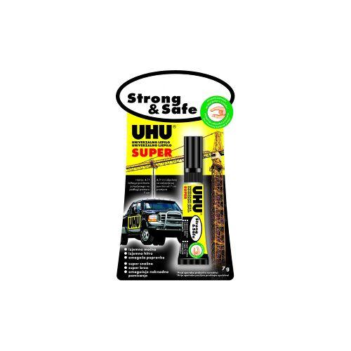 UHU GmbH & Co KG UHU Alleskleber Super Strong & Safe, klebt super stark und schnell, 3 x 1 g - Tube