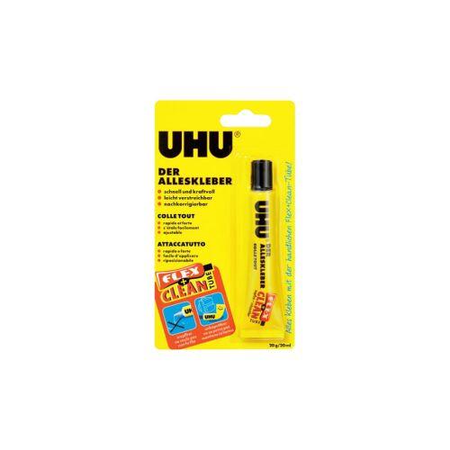 UHU GmbH & Co KG UHU Der Alleskleber, Flüssiger Kunstharzklebstoff, 20 g - Flex + Clean Tube