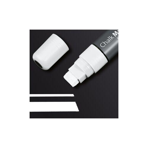 SIGEL GmbH Sigel Kreidemarker 150, Kreidestift mit besonders hoher Deckkraft, Farbe: weiß