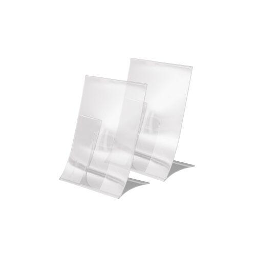 SIGEL GmbH Sigel Tischaufsteller, klappbar, Klappbarer Tischaufsteller zur einseitigen Präsentation, 1 Packung = 2 Stück, für A5