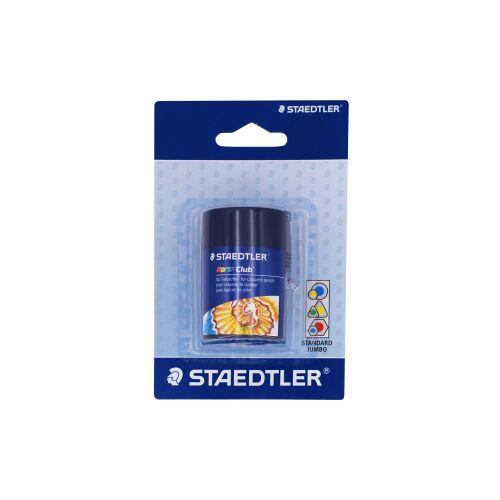 Staedtler Staedltler Noris Club 512 Doppelspitzdose, Anspitzer mit zwei Spitzlöcher für unterschiedliche Stiftformate, 1 Stück, blau