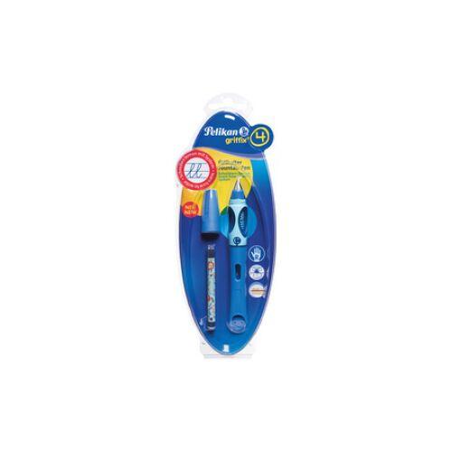 Pelikan griffix Füllfederhalter, für Rechtshänder, Schreiblernstift mit ergonomischer Griffzone, Farbe: blau