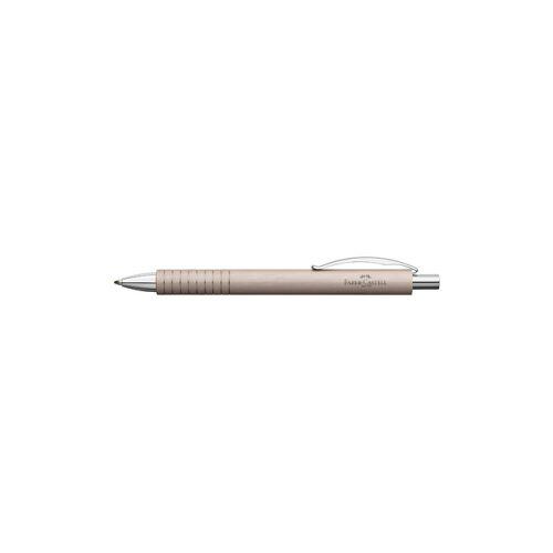 Faber-Castell Aktiengesellschaft Faber Castell Essentio Aluminium Kugelschreiber, Schreibstift mit einem Schaft aus mattem Aluminium, Farbe: rosé