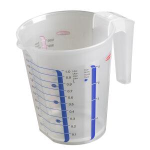 Curver Luxembourg S.a.r.l CURVER chef@home Messbecher, Dosierkanne mit farbigen Skalen zum Abmessen verschiedener Zutaten, Fassungsvermögen: 0,5 Liter
