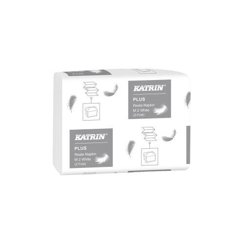 Metsä Tissue KATRIN Resta Napkin M 2 Servietten, weiß, 2-lagige Qualitätsservietten für den täglichen Gebrauch, 1 Karton = 15 Packungen à 150 Servietten