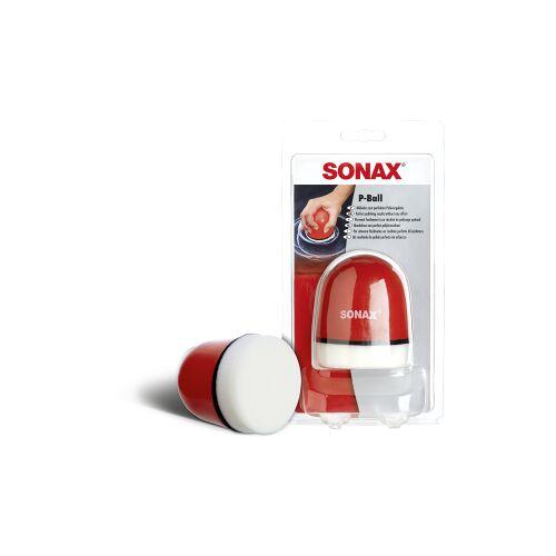 Sonax GmbH SONAX P-Ball Polierball, Ergonomischer Polierball, 1 Polierball mit abnehmbarem Schwamm