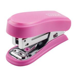 Schneider Novus Vertriebs GmbH Novus Mini Heftgerät, Kompaktes Heftgerät für Schule und unterwegs, Farbe: pink