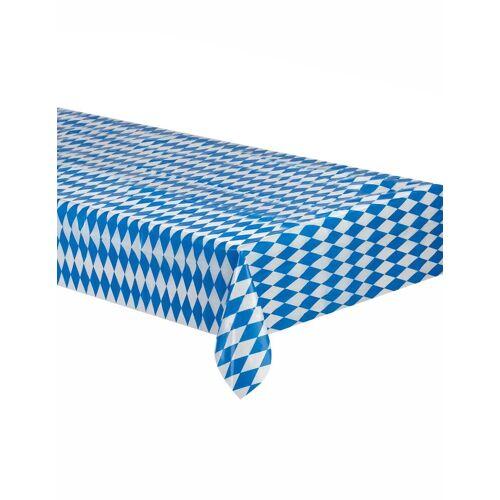 Vegaoo Tischdecke Bayerische weiß und blau kariert 260x80cm