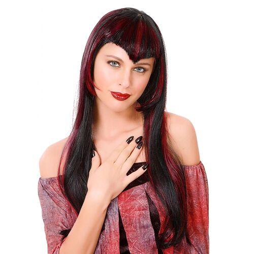 Vegaoo rote Vampir-Perücke für Damen
