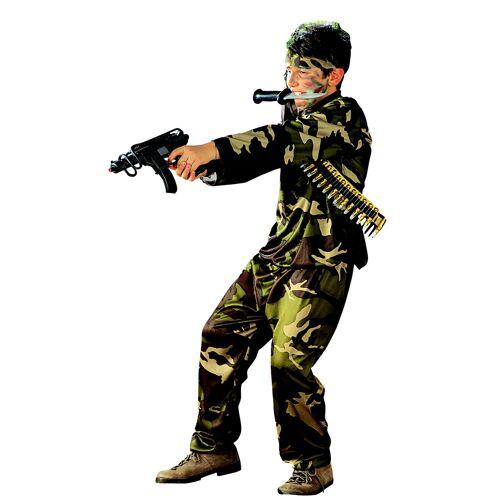 Vegaoo Soldaten-Kinderkostüm für Jungen grün-beige-braun - 140 (9-10 Jahre)