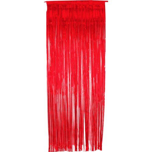 Vegaoo Roter glänzender Vorhang