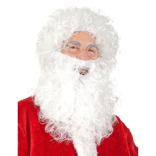 Vegaoo Weihnachtsmann-Set für Herren (Perücke und Bart)