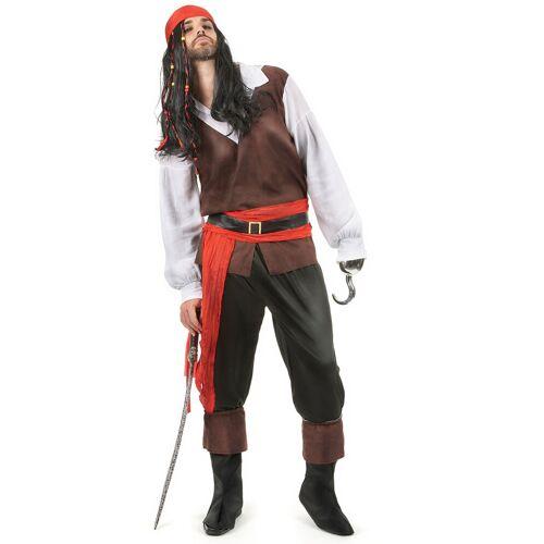 Vegaoo Seeräuber-Kostüm für Herren bunt - M / L