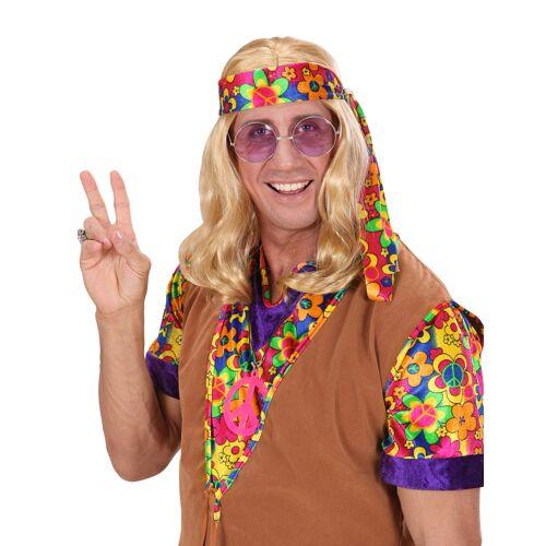 Vegaoo Blonde Hippie-Perücke für Herren