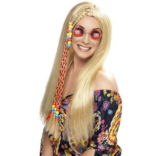 Vegaoo Hippie-Perücke blond für Damen
