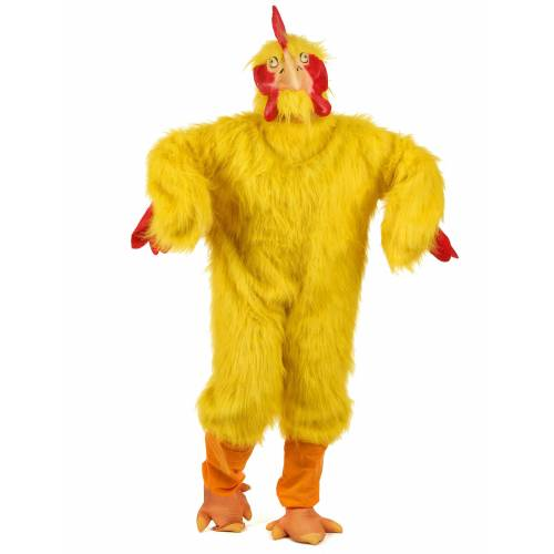 Vegaoo Hühner-Kostüm gelb für Erwachsene