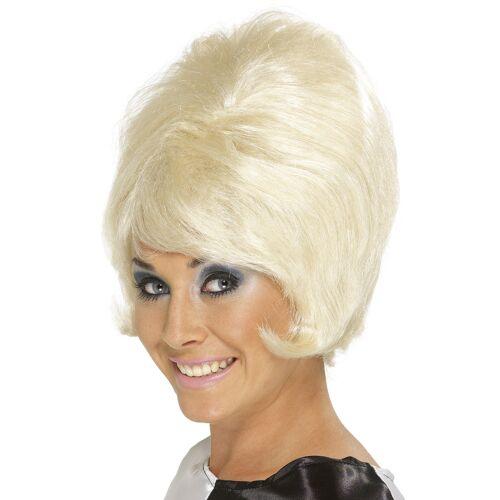 Vegaoo Blonde Perücke Beehive-Frisur für Damen