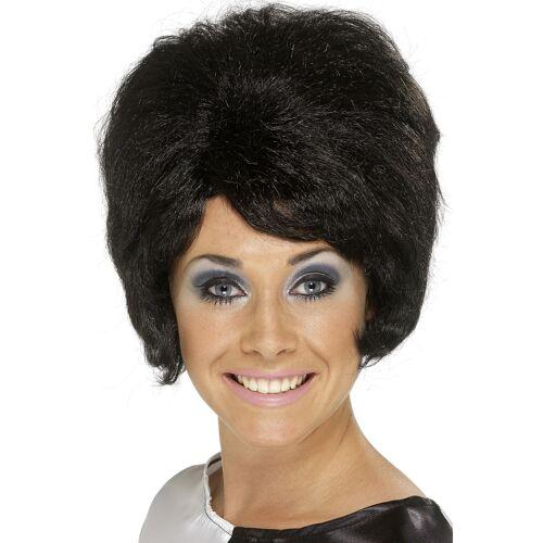 Vegaoo Schwarze Perücke Beehive-Frisur für Damen