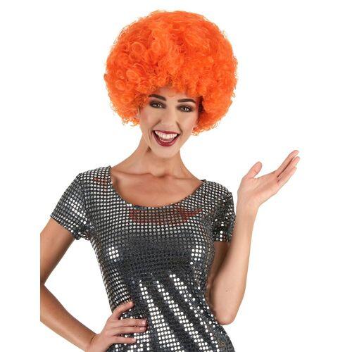 Vegaoo Orangene Perücke Afro-Frisur