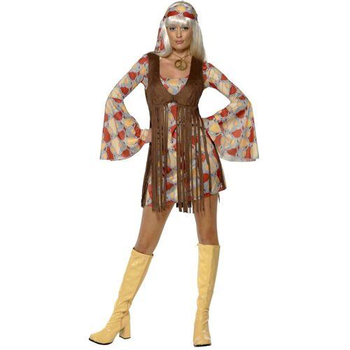 Vegaoo Hippie-Damenkostüm mit Bandana bunt - M