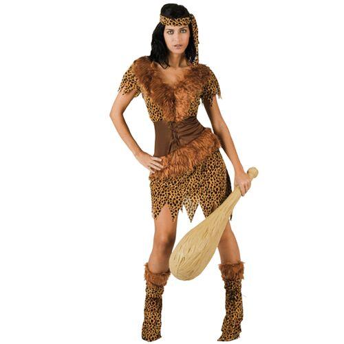 Vegaoo Höhlenmensch-Kostüm für Damen - M / L