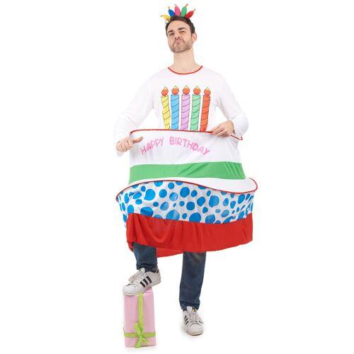 Vegaoo Geburtstagskuchen-Kostüm für Herren