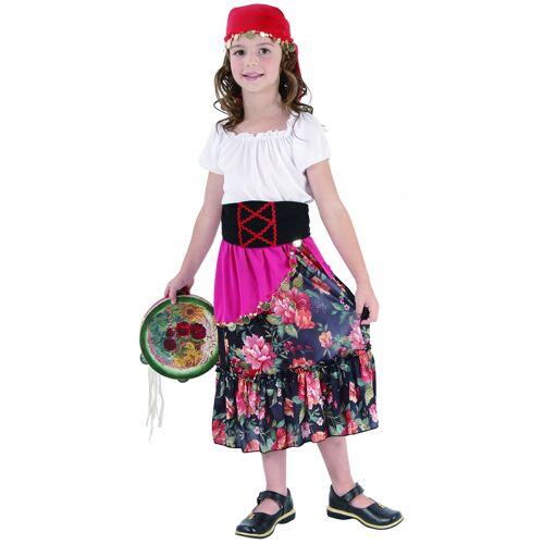 Vegaoo Zigeunerkostüm für Kinder - 134/140 (10-12 Jahre)