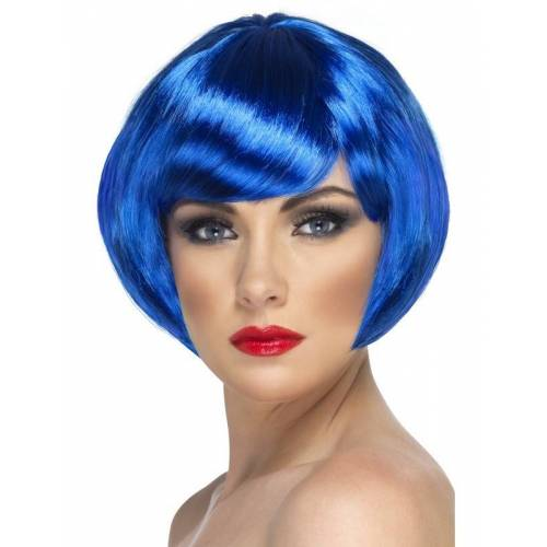 Vegaoo Kurze blaue Perücke für Damen