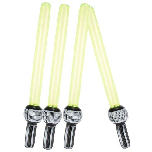 Vegaoo 4 aufblasbare Laser-Schwerter