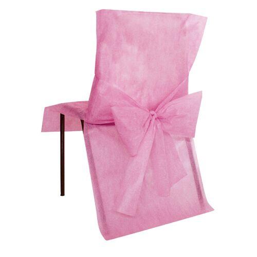 Vegaoo 10 rosa Stuhl-Hussen