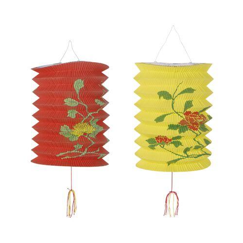 Vegaoo Rot-gelbe chinesische Laternen