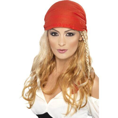 Vegaoo Blonde Piraten-Perücke für Frauen