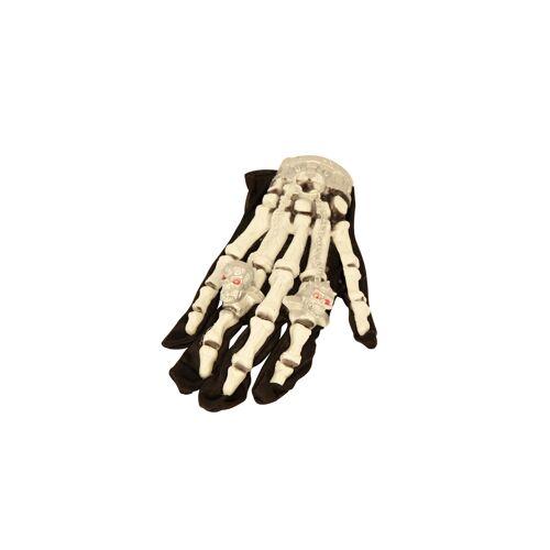 Vegaoo Leuchtende Skelett-Handschuhe