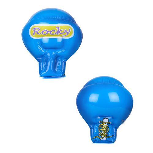 Vegaoo Aufblasbare blaue Boxhandschuhe