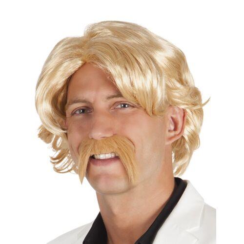 Vegaoo Blonde Perücke mit Bart für Herren