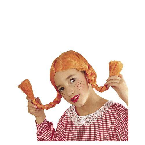 Vegaoo Perücke mit orange Zöpfen für Mädchen